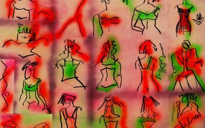 Peintures Abstrait Mixte